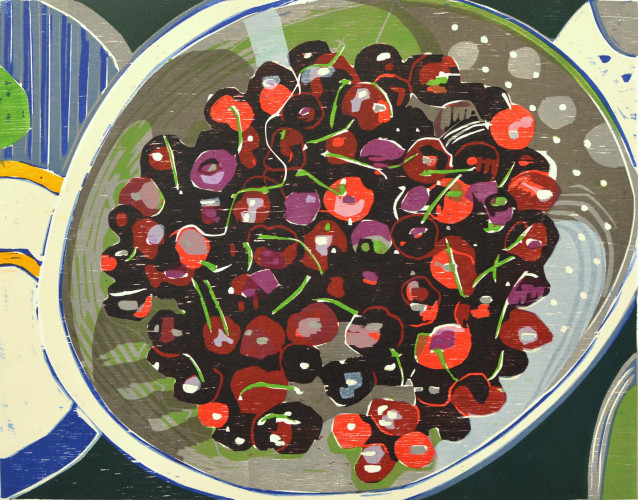 1996 Cherries in a Plate 41x52cm.